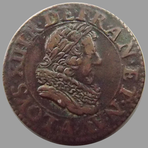 Photos numismatique Monnaies Monnaies Royales Louis XIII Double Tournois LOUIS XIII, double tournois 1628 A Paris, 2,87 grms, DY.1366 Type 5 TTB+
