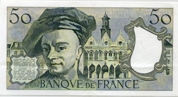 Photos numismatique Billets Billets Français Billets libellés en francs 50 francs Quentin 50 Francs Quentin, 1977, W.4/670556, F.67 1 pli central vertical  SPL