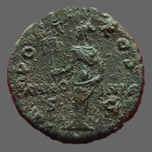 Photos numismatique Monnaies Empire Romain AELIUS, AELIO As, asse,  AELIUS, As Rome en 137, Pannonia sc, 9,78 grms, RIC 1071 TTB R!