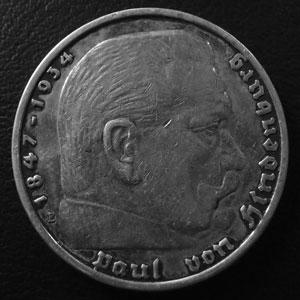 Monnaies Deutschland Ab 1871 Dritte Reich 5 Mark Thierry Dumez