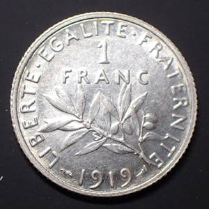 Monnaies Franzosische Munzen Ab 1800 Dritte Republik 1 Franc Thierry