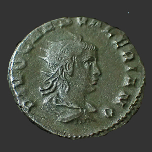 257-258 Antoninien Empire Romain Valérien Ii Consacratio