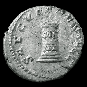 Photos numismatique Monnaies Empire Romain Philippus I Arabs, Philippe I l'Arabe Antoninien, Antoninian, Antoninianus PHILIPPUS I Arabs, PHILIPPE I l'arabe, antoninian Rome en 249, Saeculares augg, cippe, 20x22mm, 4,01 grms, RIC 24c TTB+