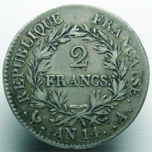 Monnaies Franzosische Munzen Ab 1800 1 Er Empire Napoleon 2 Francs
