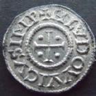 Photo numismatique  Monnaies Monnaies Carolingienne Louis le Pieux Denier au temple, légende chrétienne LOUIS le Pieux, 814-840, denier au temple, 1,45 Grms, MG.472 SUPERBE