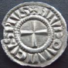 Photo numismatique  Monnaies Monnaies Carolingienne Louis IV l'enfant Denier Argenti Nacunas LOUIS IV l'enfant, 899-911, denier Argenti Nacunas, Strasbourg, 1,00 grms, DEP.961 petit manque de Métal sinon SUPERBE à FDC! Rare!