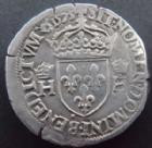 Photo numismatique  Monnaies Monnaies Royales Henri III Teston HENRI III, teston au col plat 1575 B Rouen, 9,49 grms, DY.1126a TB+/TTB+