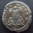 Photo numismatique  Monnaies Empire Romain SEPTIME SEVERE, SEPTIMUS SEVERUS, SEPTIMO SEVERO Denier, denar, denario, denarius SEPTIMIUS SEVERUS, SEPTIME SEVERE, denier Rome en 202, Trophée, 3,43 grms, C.372 Bon TTB