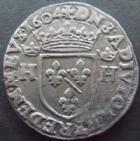 Photo numismatique  Monnaies Monnaies Féodales Dombes Teston Principauté des Dombes, Henri II de Montpensier, teston 1604, Trevoux, 9,38 grms, PA.5148 TTB