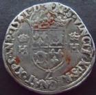 Photo numismatique  Monnaies Monnaies Royales Charles IX Teston du Dauphin� CHARLES IX au nom d'HENRI II, Teston du Dauphin�, 1561 Z Grenoble, 9,35 grms, DY.1054 TB � TTB