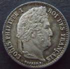 Photo numismatique  Monnaies Monnaies Fran�aises Louis Philippe 1/4 de Franc LOUIS PHILIPPE, 1/4 de franc 1833 A Paris, G.355 SUPERBE
