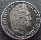 Photo numismatique  Monnaies Monnaies Françaises Louis Philippe 1/4 de Franc LOUIS PHILIPPE, 1/4 de franc 1834 A Paris, G.355 TTB+