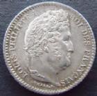 Photo numismatique  Monnaies Monnaies Françaises Louis Philippe 25 Centimes LOUIS PHILIPPE, 25 centimes 1847 A Paris, G.357 SUPERBE