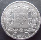 Photo numismatique  Monnaies Monnaies Françaises Louis XVIII 2 Francs LOUIS XVIII, 2 francs 1821 A Paris, G.513 TTB+