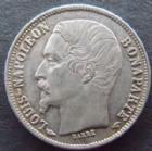 Photo numismatique  Monnaies Monnaies Françaises Deuxième République 50 Centimes LOUIS NAPOLEON BONAPARTE, 50 centimes 1852 A Paris, G.412 rayure sur la joue sinon TTB à SUPERBE