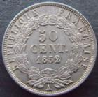 Photo numismatique  Monnaies Monnaies Fran�aises Deuxi�me R�publique 50 Centimes LOUIS NAPOLEON BONAPARTE, 50 centimes 1852 A Paris, G.412 rayure sur la joue sinon TTB � SUPERBE