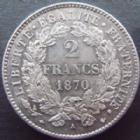 Photo numismatique  Monnaies Monnaies Françaises Défense nationale 2 Francs 2 Francs Cérès 1870 petit A Paris, G.530 SUPERBE+