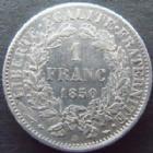 Photo numismatique  Monnaies Monnaies Fran�aises Deuxi�me R�publique 1 Franc 1 franc C�r�s 1850 BB Strasbourg,