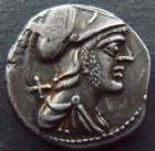 Photo numismatique  Monnaies R�publique Romaine Veturia 137 av Jc Denier, denar, denario, denarius TI.VETURIUS, denier Rome en 137 avant Jc, 3,94 grms, RSC.Veturia 1 TTB+