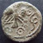 Photo numismatique  Monnaies Monnaies Gauloises Carnutes Bronze � l'aigle et au serpent CARNUTES, vers 52 avant Jc, bronze � l'aigle et au serpent, 2,34 grms, DT.2576 TB � TTB