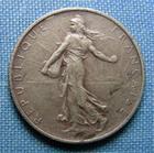 Photo numismatique  Monnaies Monnaies Françaises Troisième République 1 Franc 1 Franc type semeuse de Roty, 1898 Flan Mat, Gadoury 467 Superbe