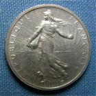 Photo numismatique  Monnaies Monnaies Françaises Troisième République 1 Franc 1 Franc type semeuse de Roty, 1898, Gadoury 467, Superbe à fdc