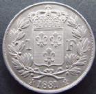 Photo numismatique  Monnaies Monnaies Françaises Henri V 1 Franc HENRI V, 1 franc 1831, 4,99 grms, G.451 SUPERBE+