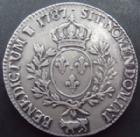 Photo numismatique  Monnaies Monnaies Royales Louis XVI Ecu de Béarn aux branches d'olivier LOUIS XVI, Ecu de Béarn aux branches d'olivier, 1787 vaquette, Pau, 29,26 grms, L4L.552 TTB+