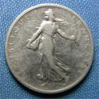 Photo numismatique  Monnaies Monnaies Françaises Troisième République 1 Franc 1 Franc type semeuse de Roty, 1901, Gadoury 467, TB