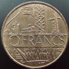 Photo numismatique  Monnaies Monnaies Fran�aises Cinqui�me r�publique 10 francs Mathieu 10 francs Mathieu 1987, tranche A, G.814 SUPERBE+