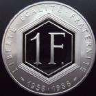 Photo numismatique  Monnaies Monnaies Fran�aises Cinqui�me r�publique 1 francs DE GAULLE, 37 mm, argent 1988 1 franc DE GAULLE 1988, argent 37 mm, 900�/��, BE, belle epreuve, avec boitier et certifcat