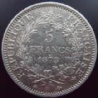 Photo numismatique  Monnaies Monnaies Françaises Troisième République 5 Francs 5 francs Hercule 1873 A, G.745a TTB