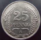 Photo numismatique  Monnaies Allemagne après 1871 Allemagne, Deutschland, Germany 25 Pfennig Allemagne, Deutsche Reich, 25 pfennig 1909 A, J.18 TTB+