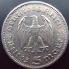 Photo numismatique  Monnaies Allemagne après 1871 Allemagne, troisième reich, drittes reich, third reich 5 Mark 3ème Reich, Dritte Reich, 5 mark Hindenburg 1935 A, J.360 TTB