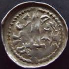Photo numismatique  Monnaies Monnaies/médailles de Lorraine Ferri III Denier, denar, denario, denarius FERRI III, 1251-1303, denier Neufchateau, 0,61 grm, Flon.49 p.297  TTB/TB+