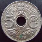 Photo numismatique  Monnaies Monnaies Françaises Troisième République 5 centimes Lindauer 5 centimes Lindauer 1918 gros module, G.169 TTB à SUPERBE