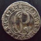 Photo numismatique  Monnaies Allemagne avant 1871 Allemagne, Deutschland, Pfalz Kurlinie 1 Kreuzer  Pfalz Kurlinie, Karl Philipp 1716-1742, eine kreuzer 1728, 1 kreuzer, 0,52 grm, Noss.345 TTB