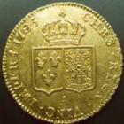 Photo numismatique  Monnaies Monnaies royales en or Louis XVI Double louis d'or aux Ecus accolés LOUIS XVI, double Louis d'or au buste nu, 1786 A, 15,23 grms, G.363 P.SUPERBE/SUPERBE  beaux restes de brillant d'origine!!
