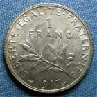 Photo numismatique  Monnaies Monnaies Françaises Troisième République 1 Franc 1 Franc type semeuse de Roty, 1917, Gadoury 467, SUP+