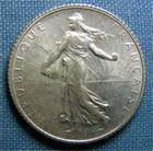 Photo numismatique  Monnaies Monnaies Françaises Troisième République 1 Franc 1 Franc type semeuse de Roty, 1918, Gadoury 467, SUP à FDC