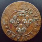 Photo numismatique  Monnaies Monnaies F�odales Dombes Double Tournois Dombes, Gaston d'Orleans, double torunois, date illisible (1640??), 2,88 grms, TTB