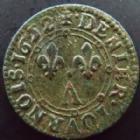 Photo numismatique  Monnaies Monnaies Féodales Ardennes, Charleville Denier Tournois Ardennes, Charleville, Charles II de Gonzague, denier tournois 1652, 1,55 grms, PA.6192 TTB+