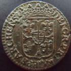Photo numismatique  Monnaies Monnaies Féodales Ardennes, Charleville Liard au buste large Ardennes, Charleville, Charles I de Gonzague, liard au buste large 1613, 4,44 grms, PA.6151 Var. TTB