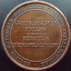 Photo numismatique  Monnaies Médailles Emancipation intellectuelle Médaille, Medaillen, Medals Société Nationale pour l'émancipation intellectuelle, médaille 33 mm, 1 Octobre 1831, TTB