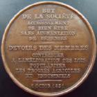 Photo numismatique  Monnaies Médailles Emancipation intellectuelle Médaille, Medaillen, Medals Société Nationale pour l'émancipation intellectuelle, médaille 33 mm, 1 Octobre 1831, TTB