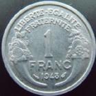 Photo numismatique  Monnaies Monnaies Françaises 4ème république 1 Franc 1 franc Morlon aluminium 1948, G,473b SUPERBE