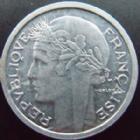 Photo numismatique  Monnaies Monnaies Françaises Gouvernement Provisoire 1 Franc 1 franc Morlon aluminium 1945, G.473 a SUPERBE