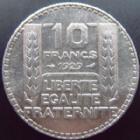 Photo numismatique  Monnaies Monnaies Françaises Troisième République 10 Francs 10 francs Turin en argent 1929, G.801 TTB+