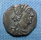 Photo numismatique  Monnaies Peuples Barbares Vandales Silique VANDALES 6ème / 7ème siècle, Carthage?, imitation des siliques d'Honorius, TTB+ Rare!
