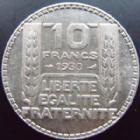 Photo numismatique  Monnaies Monnaies Françaises Troisième République 10 Francs 10 francs Turin en argent 1930, G.801 TTB à SUPERBE